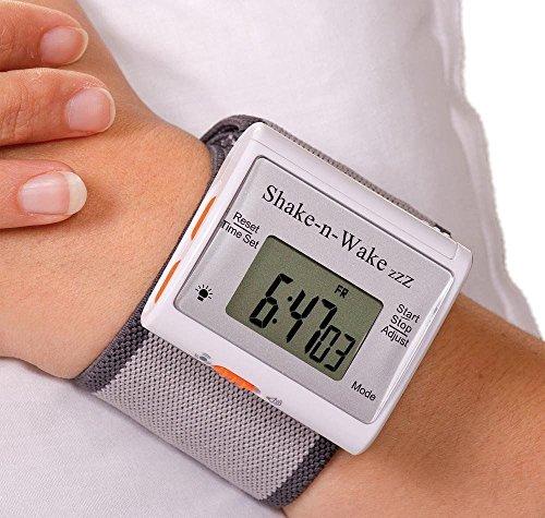 Silent Vibrating Personal Alarm Clock Wrist Watch Digital