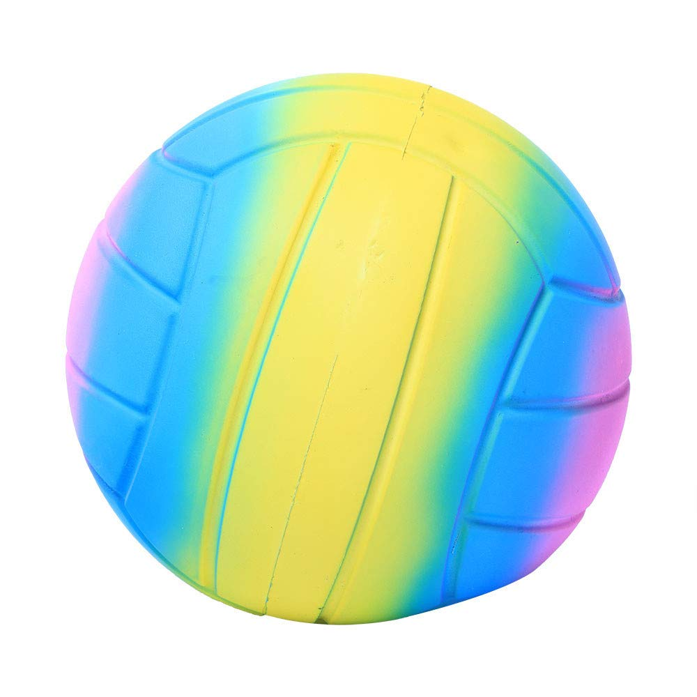 The Big Volleyball Squishies Toy,123Loop Jumbo Super Giant Soft Volleyball Slow Rising Squeeze Relieve Stress Toy (C)