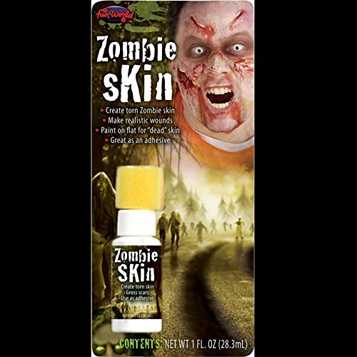 Walking Dead Fake-ZOMBIE SKIN-Torn Scars Wound FX Special Effects Horror Make Up -