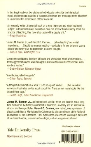 the elements of teaching ca jr james m banner harold c  the elements of teaching ca jr james m banner harold c cannon books
