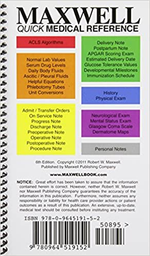 Maxwell quick medical reference 9780964519152 medicine health maxwell quick medical reference 6th edition fandeluxe Image collections