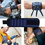 Magnetic Wristband, Oldeagle 5 Magnetic Wristband Pocket Tool Belt Screws Scissors Holding Working Helper (Blue)