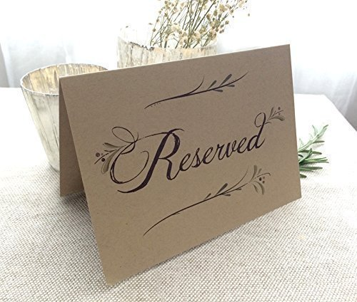 amazon com 8 pack rustic reserved wedding table signs folded