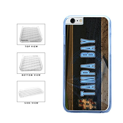 BleuReign(TM) Hashtag Tampa Bay #TampaBay Baseball Team Clear Sides Plastic Phone Case Back Cover For Apple iPhone 6 Plus and iPhone 6s Plus (5.5 Inches Screen)