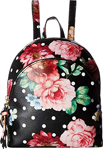 Zip Jeans Denim Back (T-Shirt & Jeans Charlotte Double zip Back pack in floral and polka dots multi)
