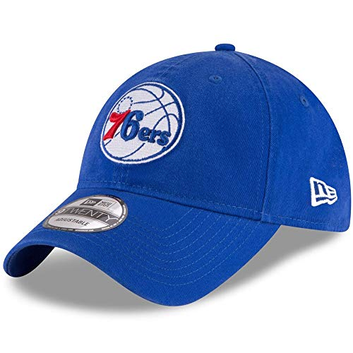 New Era NBA Philadelphia 76ers 9TWENTY Team Color Strapback Cap, Hat Blue (New Era Canvas Cap)