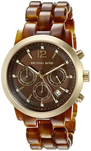 Michael Kors Women's Audrina Brown Watch - Kors Michael Watch Tortoise