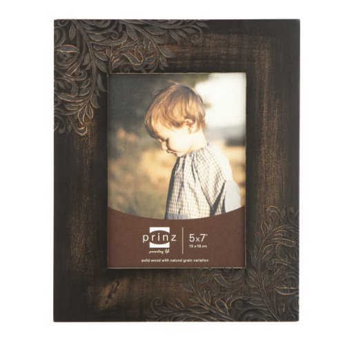 prinz perry vine wood photo frame 5 by 7 inch espresso