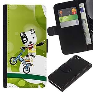All Phone Most Case / Oferta Especial Cáscara Funda de cuero Monedero Cubierta de proteccion Caso / Wallet Case for Apple Iphone 6 // Funny Cute Bicycle Dog