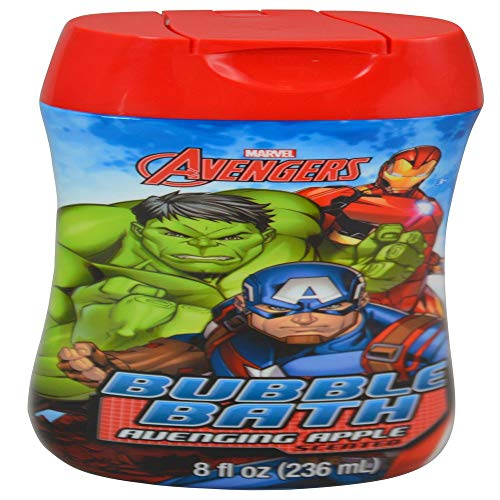 Marvel Avengers Bubble Bath in Shaped, 8 Oz. Avenging Apple Scented Hand Soap Body Wash Hair Shampoo Ideal Party Favors Gift Basket Bag Filler For Toddlers Kids Children Shower Gels Health & Household