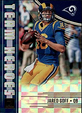 d6c2ba91 2018 Donruss Team Heroes Football Card #17 Jared Goff NM-MT Los Angeles  Rams Official NFL Trading Card