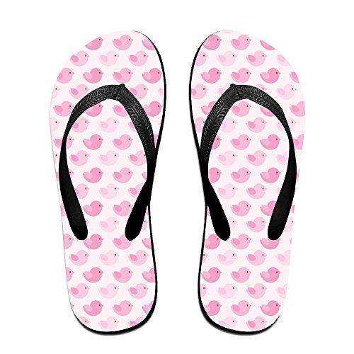 est Beach Shoes Pink Birds Sandals Custom Slippers (Pink Slippers Bat)
