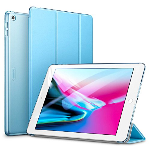 ESR Yippee Trifold Smart Case for iPad 9.7 2018/2017, Lightweight Smart Cover with Auto Sleep/Wake, Microfiber Lining, Hard Back Cover for iPad 9.7 iPad 5th / 6th Generation, Sky Blue