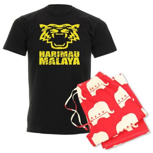 CafePress - Cakar Harimau Malaya Men's Dark Pajamas - Unisex Novelty Cotton Pajama Set, Comfortable PJ Sleepwear