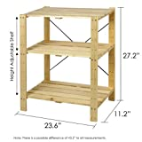 Furinno FNCJ-33013 Pine Solid Wood 3-Tier Shelf