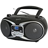 SuperSonic SC-504 SILVER Portable MP3 & Cd Player with Am/FM Radio