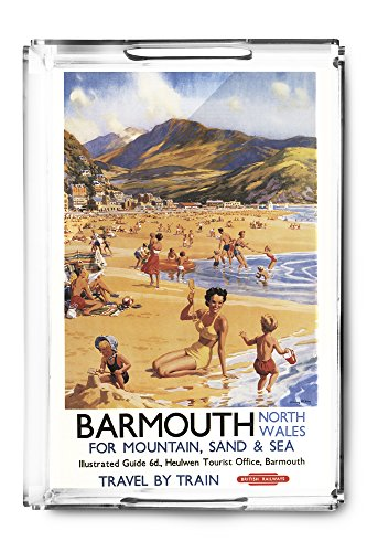 barmouth-england-beach-scene-mother-and-kids-british-rail-vintage-travel-poster-acrylic-serving-tray