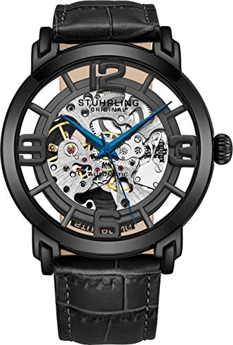 Stuhrling Original Men's 165B2.335569 Winchester 44 Automatic Skeleton Black Dial Watch ()