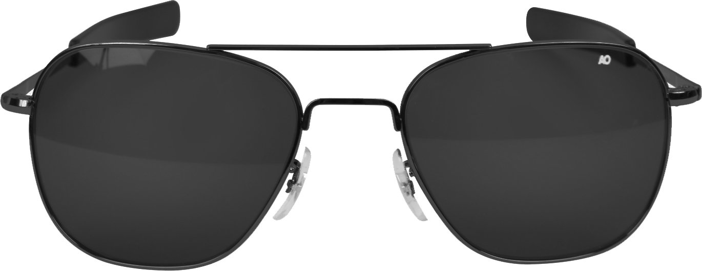 Amazon.com  AO American Optical Original Pilot Sunglasses Black 57mm  Bayonet Temples  Sports   Outdoors c35d429bfb8