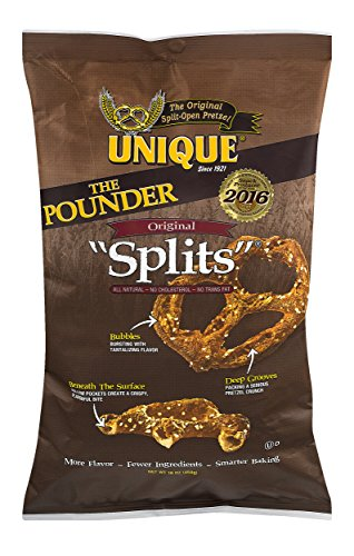 Unique Pretzel Splits The Pounder - 16 oz. Bag.(Pack of 2)