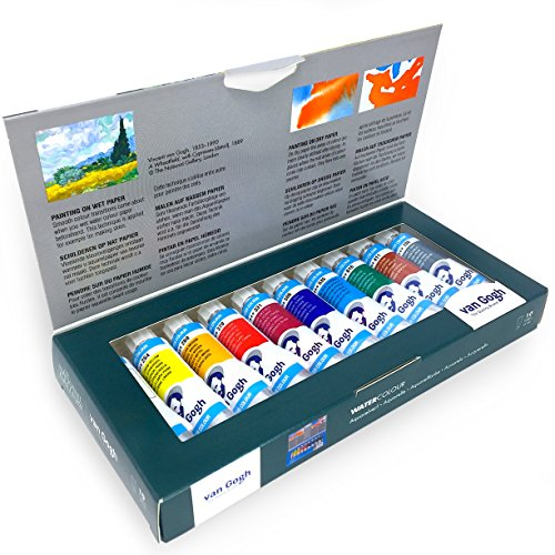 Royal Talens – Van Gogh – The National Gallery – Limited Edition - Watercolour Paints Set – 10 x 10ml (Van Gogh Watercolour)
