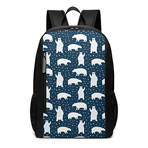 Cute Polar Bears Laptop Backpack 17inch- School Travel Backpack Casual Daypack For ()