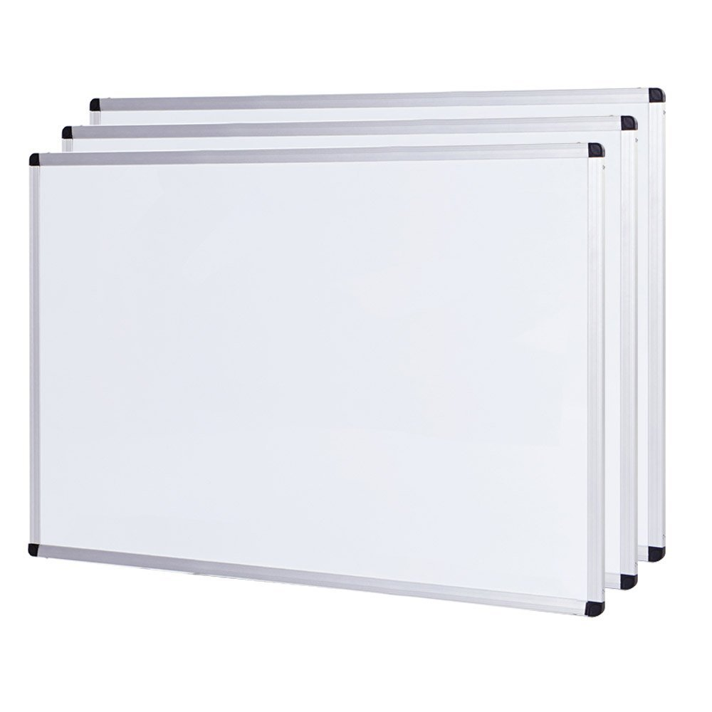 Viz-Pro Lavagna bianca–Con Cornice In Alluminio, con chiusura magnetica 2er Pack 120 x 90 cm Zhengzhou AUCS Co. Ltd.