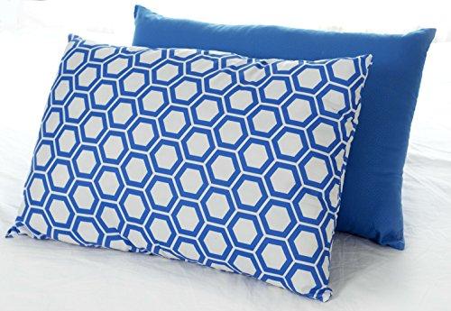 Blue Bed Pillow 2-Pack - Queen Pillows For Sleeping