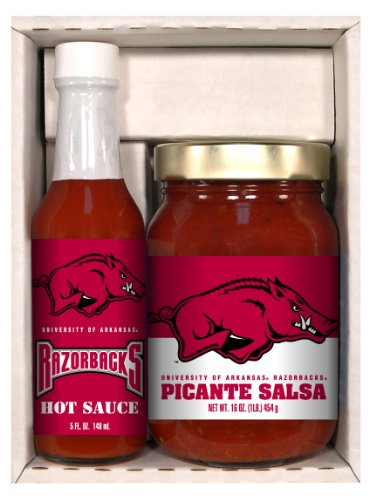 2 Pack ARKANSAS Razorbacks Snack Pack Hot Sauce ()