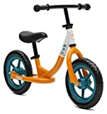 Retrospec Cub Kids Balance Bike No Pedal Bicycle, Orange & White