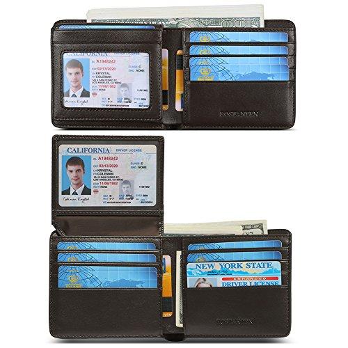 c7c5f14b5ba9 BOSTANTEN Mens Leather Wallets Slim Front Pocket Bifold RFID Blocking Wallet