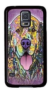 Samsung Galaxy S5 Case,Russo Golden Retriever PC case Cover for Samsung S5 and Samsung Galaxy S5 Black