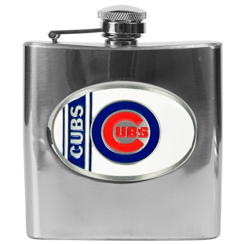 Chicago Cubs 6 oz. Stainless Steel Flask