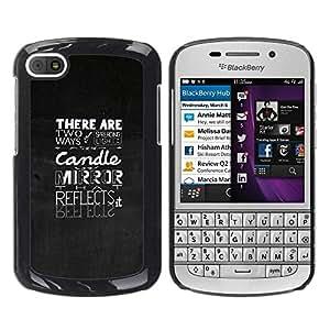 Paccase / SLIM PC / Aliminium Casa Carcasa Funda Case Cover para - Typography Emotional Message - BlackBerry Q10