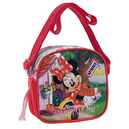 Disney Minnie Strawberry Borsa Messenger, Poliestere, Rosa, 55 cm
