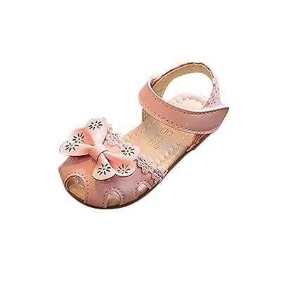 Amanod 2018 discounthotsaleChildren Girls Floral Sandals Sneaker Lace Pricness Casual Single Shoes