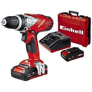 Einhell TE-CD 18 Li Pxc Trapano a Batteria Serie Power X-Change, 18 V, Nero, Rosso, 1,5Ah e Caricabatteria