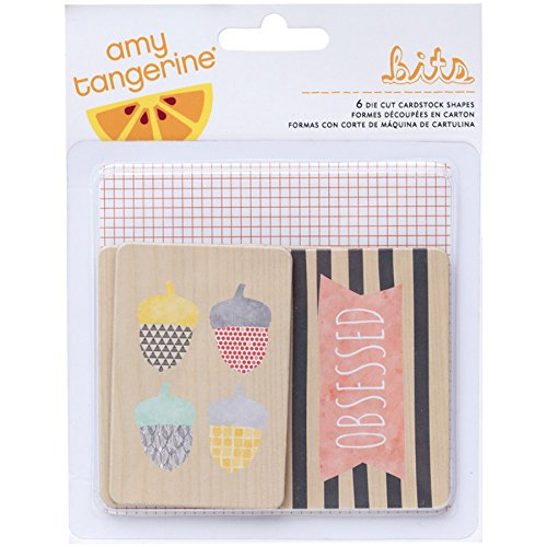American Crafts 368981 Home Amy Tangerine Printed Chipboard, Multicolored