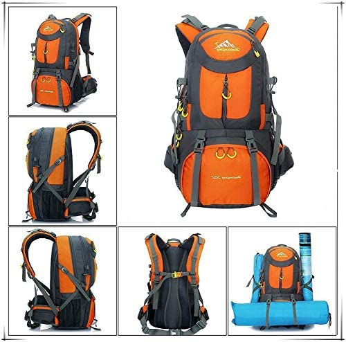 Sports Backpack Oxford Cloth Waterproof Multi-Pocket With Lid Camping Backpack For Men 50L Hiking Backpack Travel Backpack Outdoor Lightweight Cycling Backpack ZHICHEN Mountaineering Backpack
