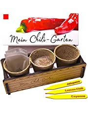 Mijn Chili Garten - Een origineel cadeau voor elke gelegenheid. Ideale Chilikweekset als cadeau voor Kerstmis, Vaderdag, Moederdag, verjaardag of Pasen
