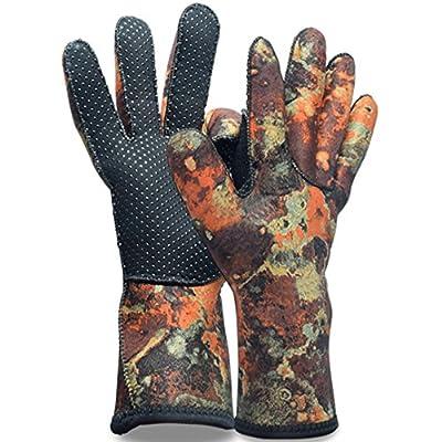 Micosuza Neoprene Diving Gloves 2.5mm Anti Slip Full Finger for Snorkeling Swimming Scuba Diving Surfing Sailing Kayaking