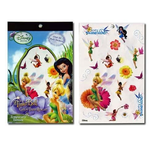 Disney Tinkerbell Tattoos - 12-Piece Disney Fairies Tinkerbell Tattoo Sheets