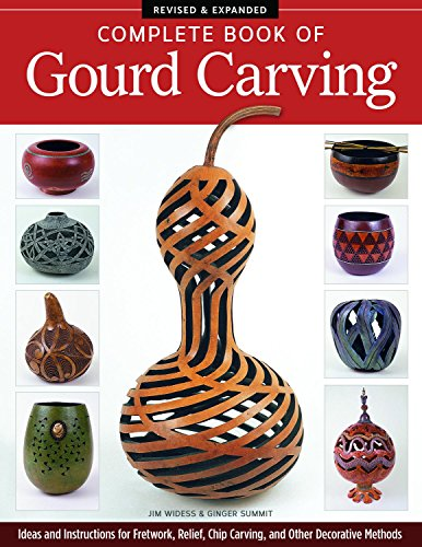 Complete Book of Gourd Carving, Revised & Expanded: Ideas and Instructions for Fretwork, Relief, Chip Carving, and Other Decorative Methods (Complete Book Of Gourd Craft)