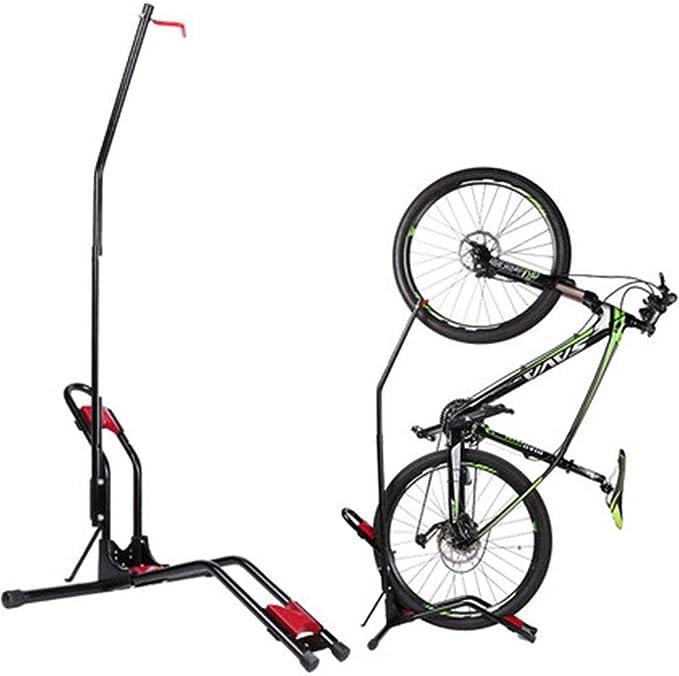 YWAWJ Soporte de la Bici Piso Estante Soporte de la Bici de Vertical/Horizontal Cubierta de Bicicletas de montaña, Bicicleta de Carretera Almacenamiento - Ahorro de Espacio - No Hay Necesidad de dañ: