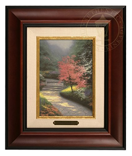 (Thomas Kinkade Afternoon Light, Dogwood Brushwork (Burl Frame))