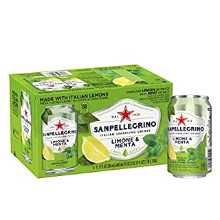 San Pellegrino Sparkling Fruit Beverage, Lemon & Mint, 11.15 Fl Oz (6 Pack)
