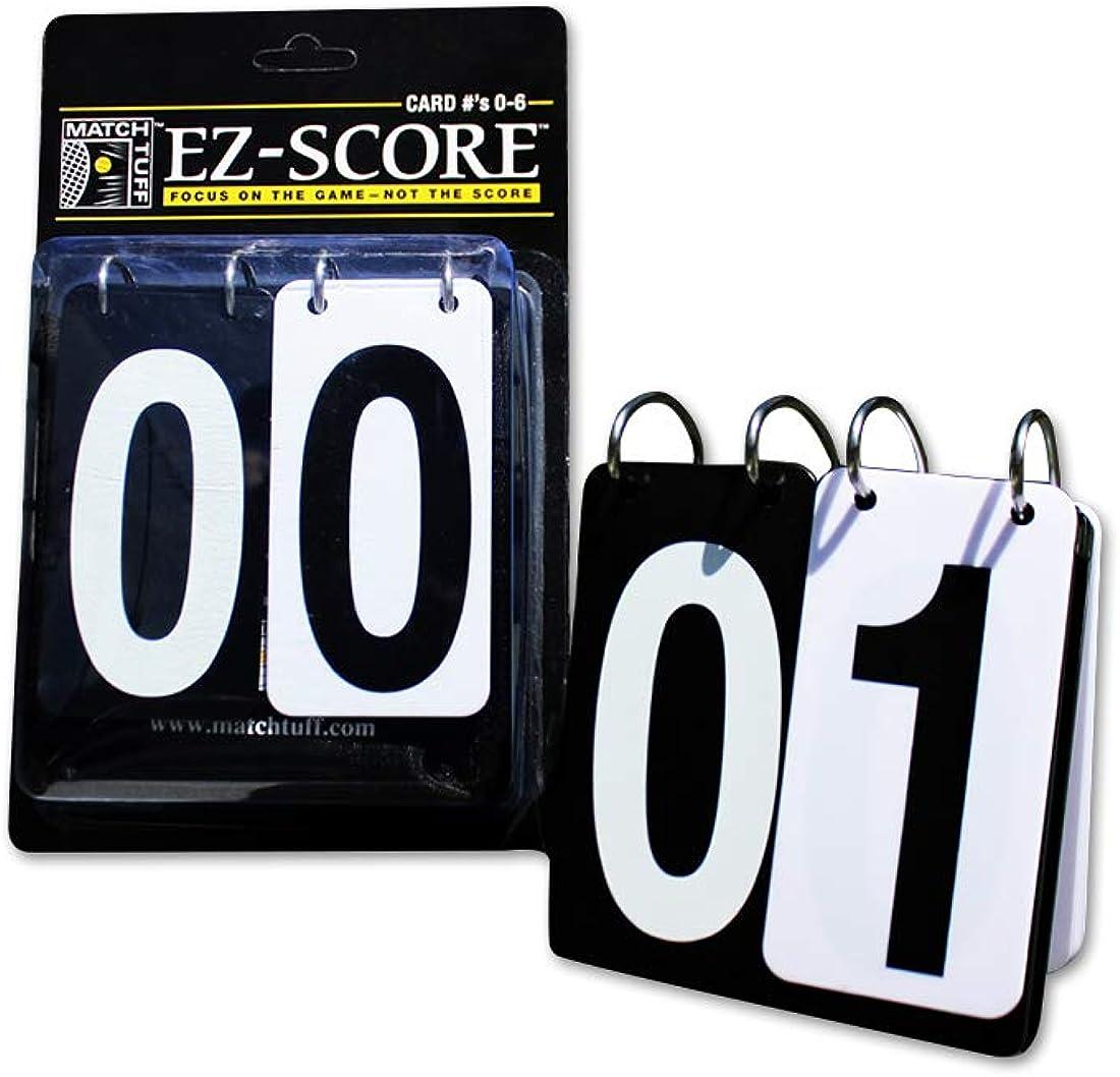 Match Tuff EZ Score (0-6) | Portable Tennis Score Keeper | EZ-FLIP | Outdoor/Indoor : Tennis Equipment : Clothing