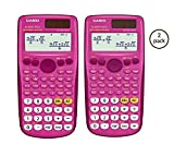 Casio Exam Approved Scientific Calculator: Homework/Classwork - 2 Pack (Pink)