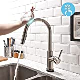 copper kitchen faucet set FORIOUS Touch Kitchen Faucets with Pull Down Sprayer, Kitchen Sink Faucet with Pull Out Sprayer, Fingerprint Resistant, Single Hole Deck Mount, Single Handle Copper Kitchen Faucet, Brushed Nickel