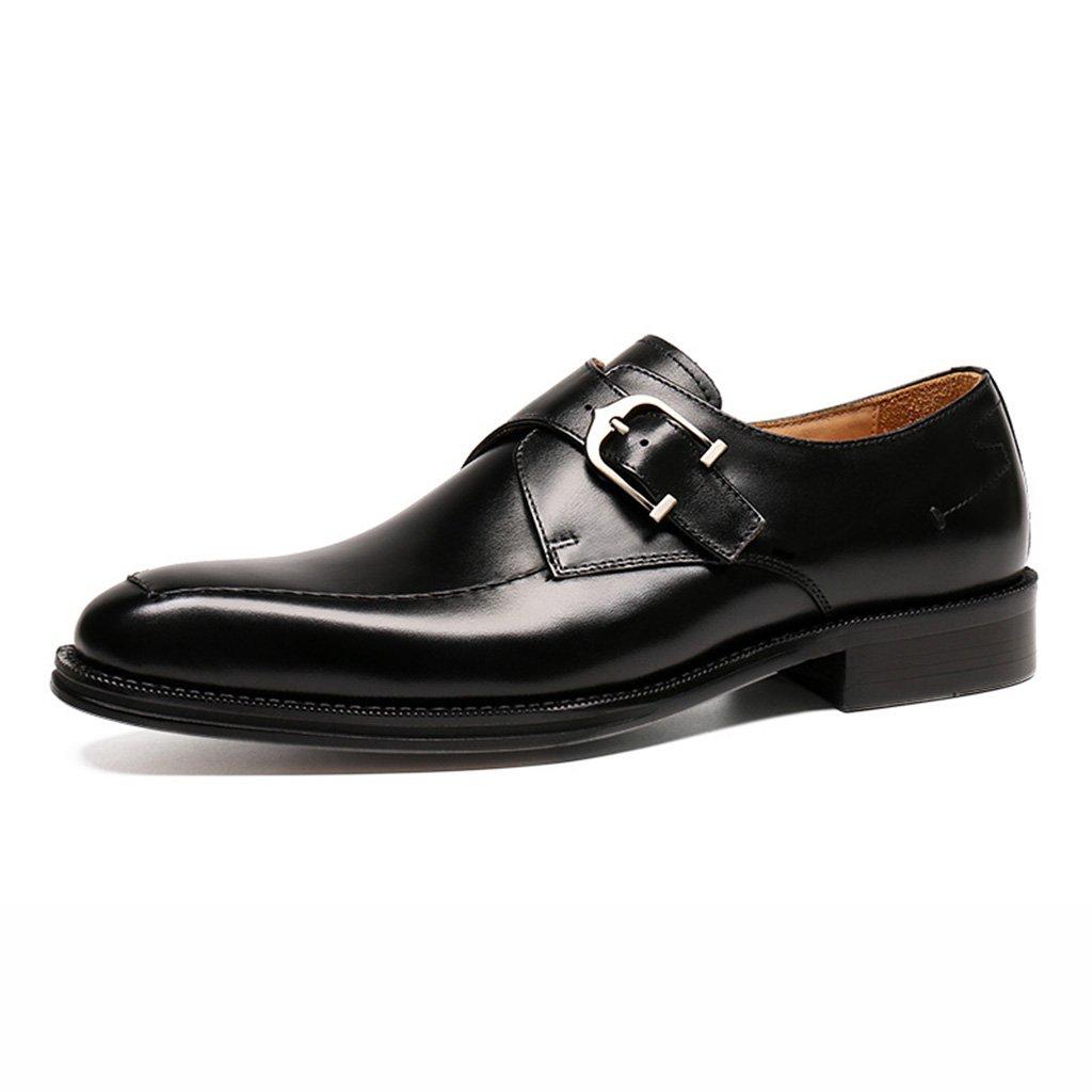 Zapatos Clásicos de Piel para Hombre Zapatos de cuero de desgaste formal de negocios de primavera masculina Zapatos de boda de novio zapatos de hombre de estilo británico ( Color : Negro , Tamaño : EU43/UK8 ) EU43/UK8|Negro